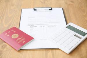 パスポートと領収書