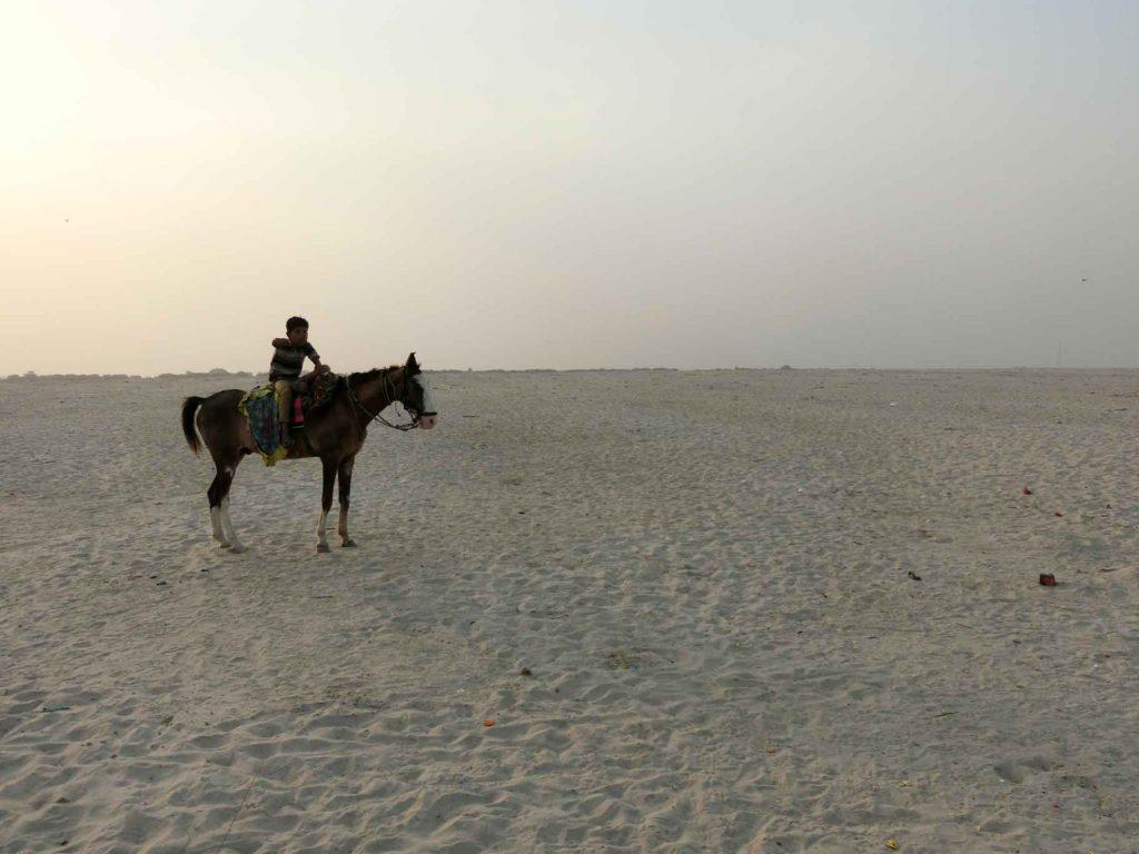 馬に乗った少年