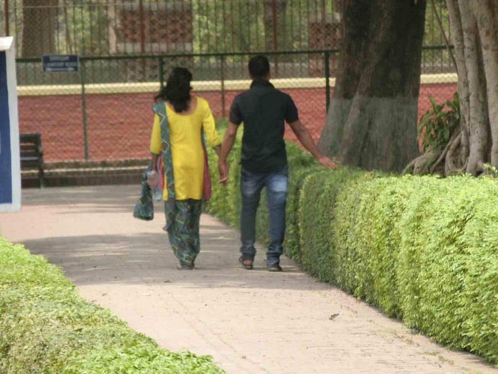 デートをするインド人
