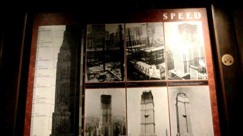 エンパイヤ・ステート・ビルの展示物