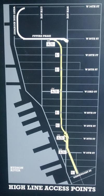ハイラインのマップ